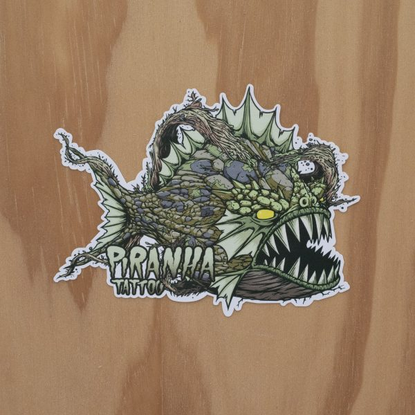 Sticker Piranha Dirty Brown
