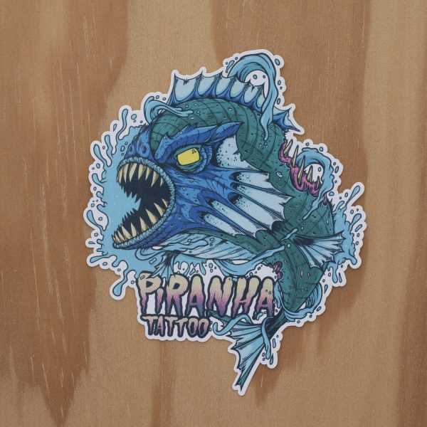 Sticker Piranha Aqua Devil