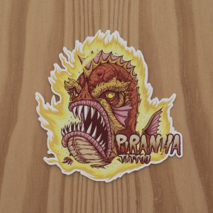 Sticker Piranha Master Flame