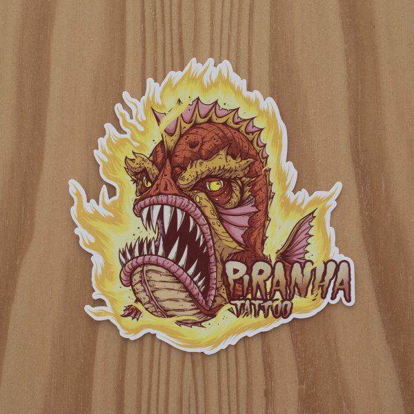 Sticker Piranha Master Flame
