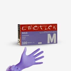 Emotion Luvas de Nitril Roxas são confortáveis e não possuem látex. Pontas dos dedos texturizadas, excelente sensibilidade tátil e à temperatura.