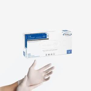 MaiMed Solution 100 Luvas Nitril Brancas é a alternativa sem látex. Pode ser usada para Indústria de alimentos, limpeza, instalações de atendimento.