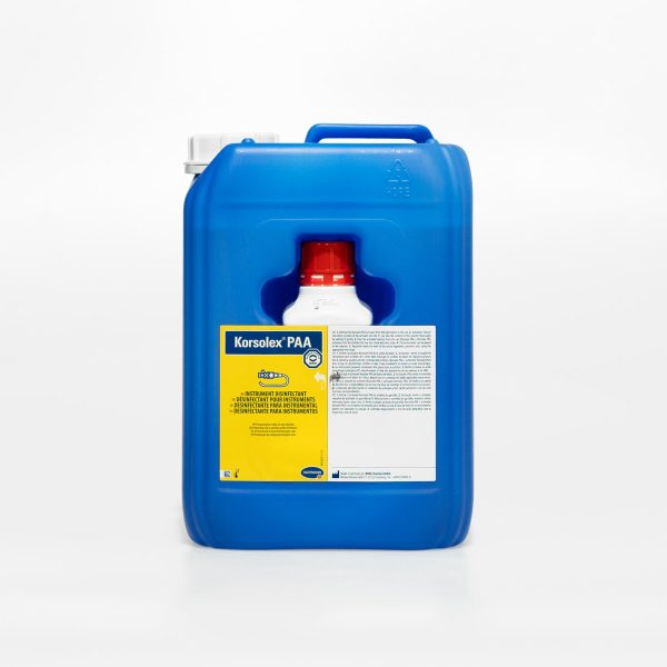 Korsolex PAAPronto a usaré adequado para desinfeção de todo o tipo de instrumentos termo-resistentes e termo-sensíveis, como equipamentos para anestesia.