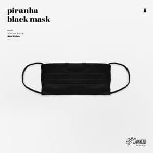 Piranha Black Mask Máscara Reutilizável