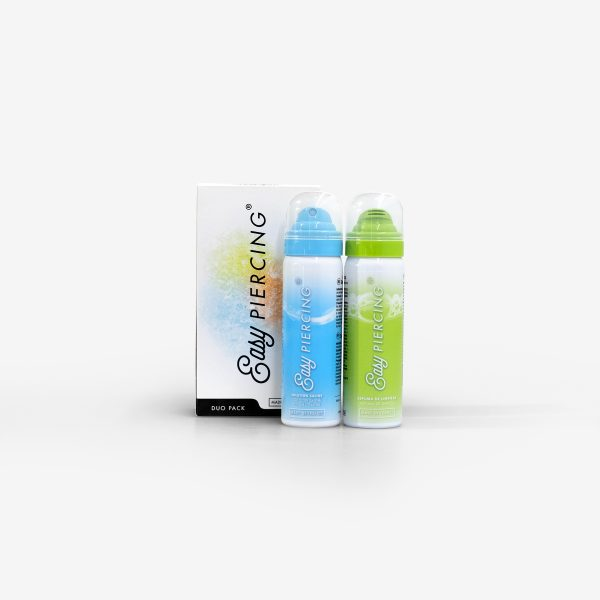 Easypiercing Duo Pack Gel Limpeza Suave e Solução Salina