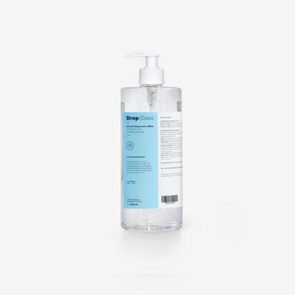 embalagem de biocida hidroalcoólico com doseador para mãos 1000ml